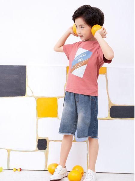 小鬼当家童装品牌2019春夏韩版纯棉儿童套装T恤