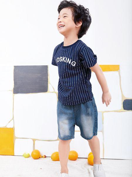 小鬼当家童装品牌2019春夏薄款五分裤男童运动短裤