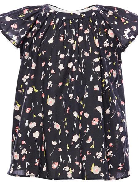 Marie Chantal童装品牌2019春夏可爱印花短袖纯棉上衣