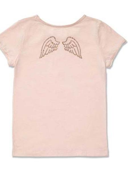 Marie Chantal童装品牌2019春夏潮流短袖纯棉字母印花t恤