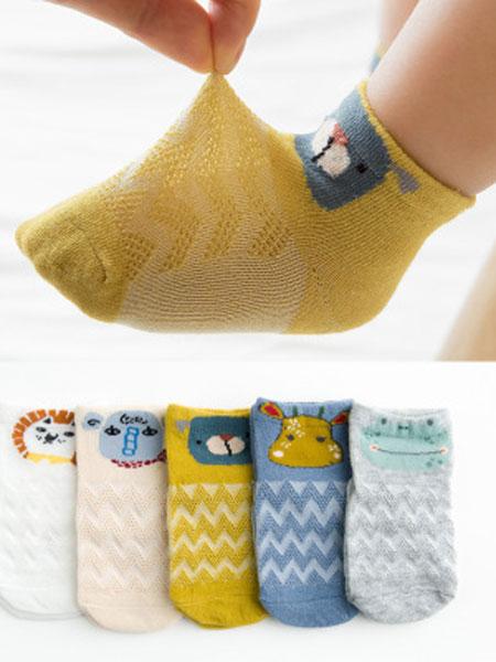 小小羊驼婴童用品2019春夏薄棉儿童透气网眼袜子