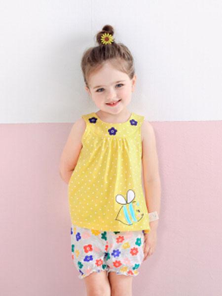 杰里贝比童装品牌2019春夏两件套女孩衣服