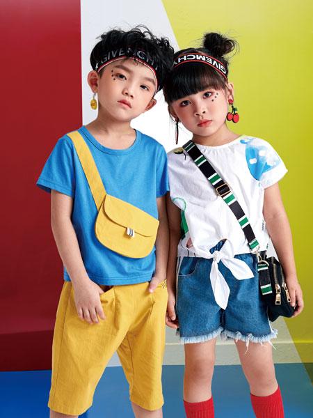 DIZAI童装品牌2019?#21512;?#20799;童男童短袖衬衫短裤套装潮休闲两件套