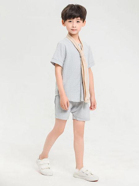 dishion的纯童装品牌2019春夏新款中童纯色短袖T恤韩版纯棉透气衬衫