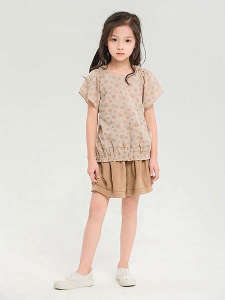 dishion的纯童装品牌2019春夏新款圆领印花套头T恤短袖上衣
