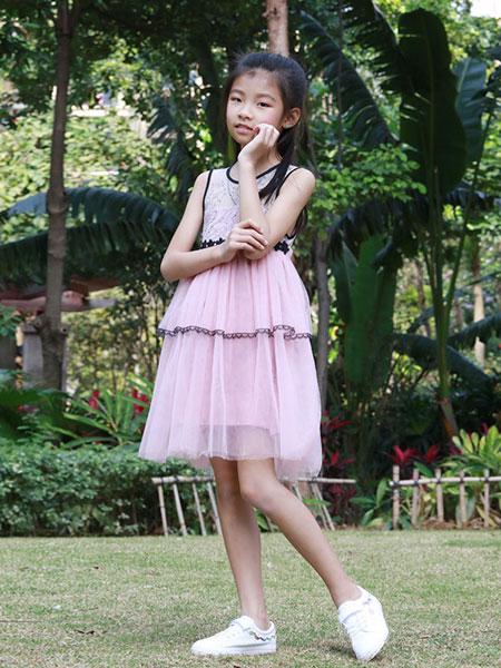 木言汀童装品牌2019春夏蓬裙子公主连衣裙