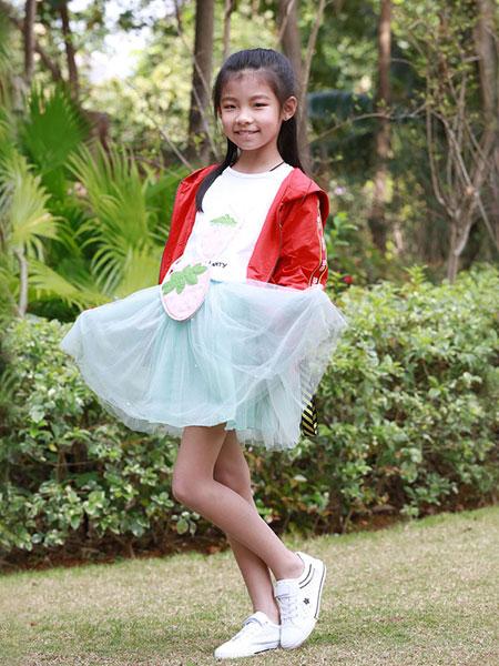 木言汀童装品牌2019春夏韩版夏季洋气连衣裙大童小女孩