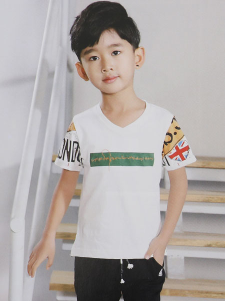 dishion的纯童装品牌2019春夏新款圆领短袖T恤半袖韩版潮