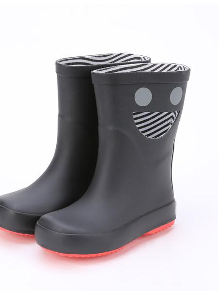 DONSJE童鞋品牌2019春夏中筒雨靴�和�防水防滑橡胶笑脸雨鞋