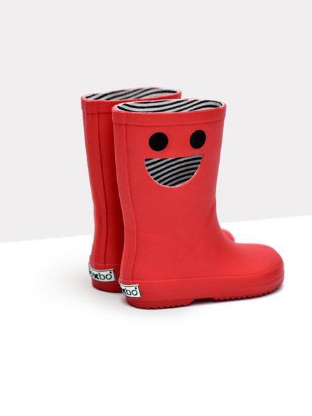 DONSJE童鞋品牌2019?#21512;?#20799;童防水防滑橡胶笑脸卡通雨鞋