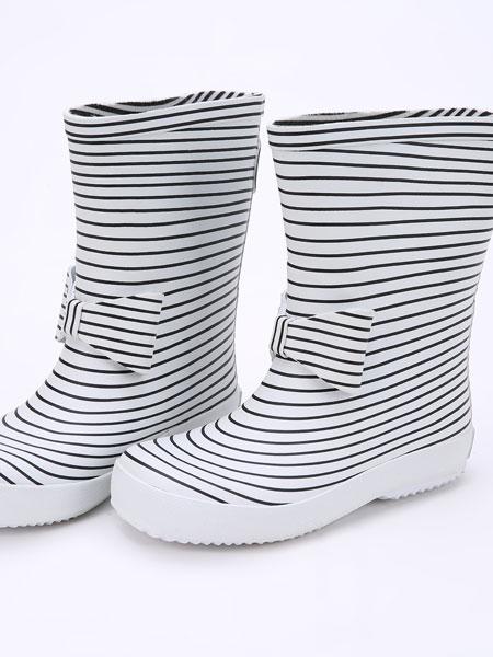 DONSJE童鞋品牌2019春夏儿童防水防滑橡胶笑脸卡通雨鞋