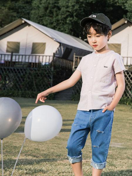 逗龙王子童装品牌2019春夏圆领打底衫透气半袖