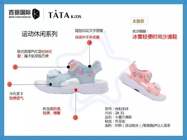 百丽国际TATA KIDS 童鞋童鞋品牌2019春夏新品
