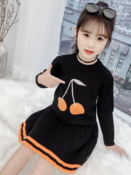 布E乐童童装品牌2019春夏中大童时髦洋气两件套潮衣