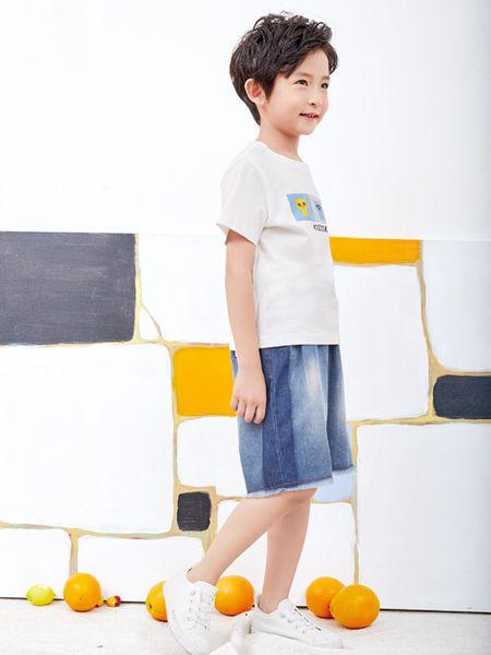 小鬼当家童装品牌2019春夏新款中大童运动上衣短袖