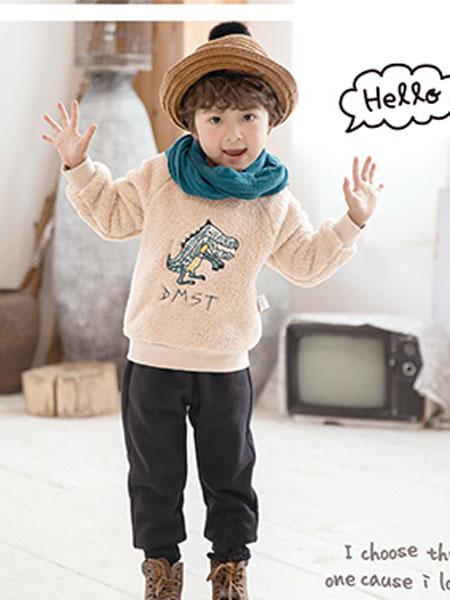 德蒙斯特(河南)童装品牌2019春夏韩版童装儿童洋气套头上衣