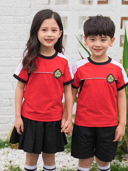 哈利欧童装品牌2019春夏短袖套装校服儿童班服