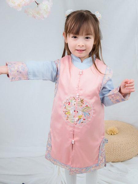 锦瑞祥童装品牌2019春夏纯棉儿童卡通潮童卫衣两件套