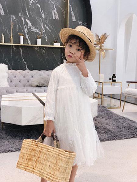 锦瑞祥童装品牌2019春夏蕾丝裙子长袖连衣裙子