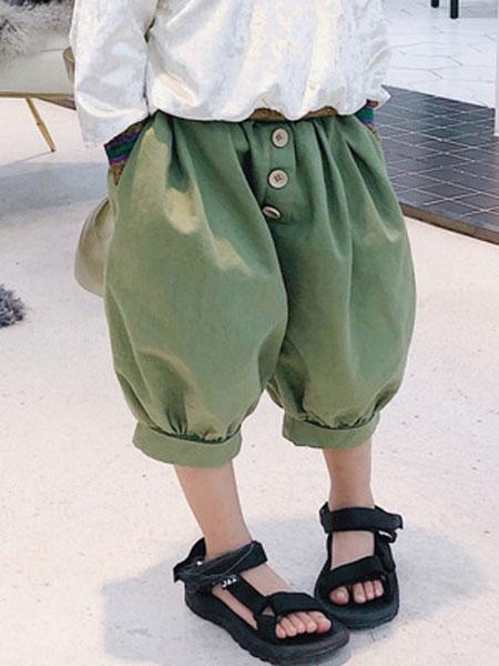 锦瑞祥童装品牌2019春夏范儿童宝宝纯棉休闲裤子