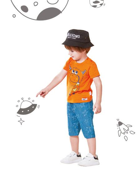 铅笔俱乐部童装品牌2019春夏纯棉短袖T恤圆领套头磨毛打底衫