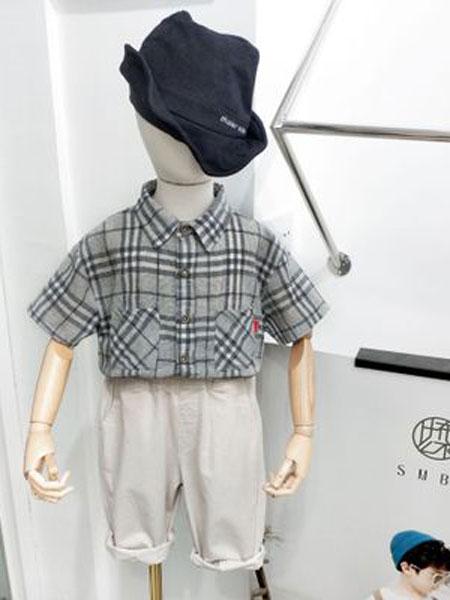 米纯童装品牌2019春夏儿童纯棉格子衬衫