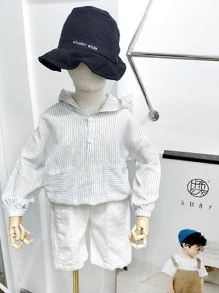 米纯童装品牌2019春夏儿童纯棉连帽防晒服
