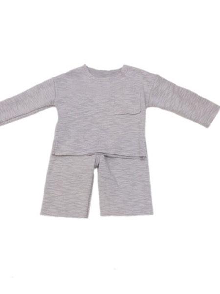 椰木童装品牌2019春夏荷叶边格子套装宝宝韩版经典两件套上衣+裤子