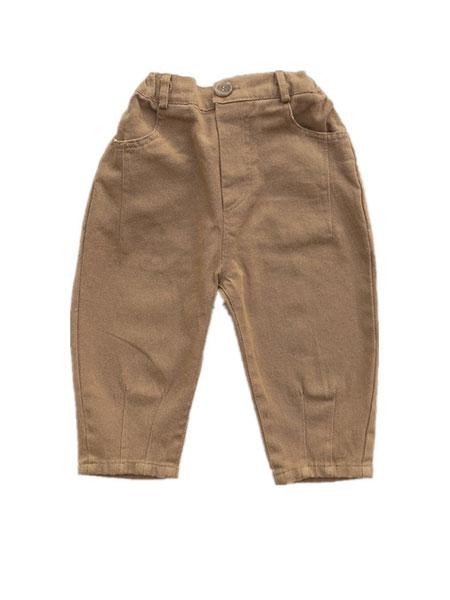 椰木童装品牌2019春夏哈伦裤九分高腰萝卜裤工装裤韩版长裤