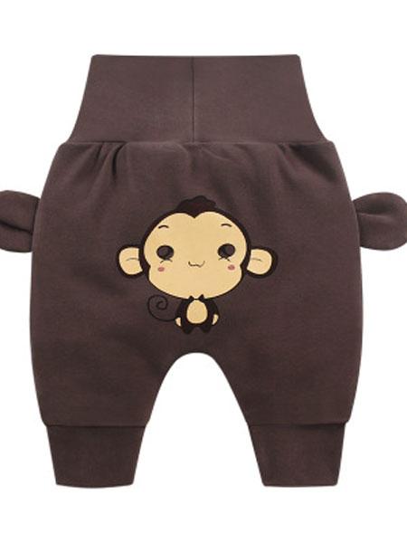 舒斑妮童装品牌2019春季pp裤婴儿高腰护肚裤儿童休闲长裤潮