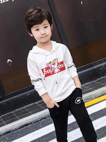 宝酷一族童装品牌2019春夏卡通长袖卫衣男童女童纯棉韩版两件套