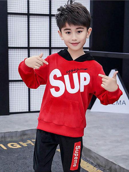 宝酷一族童装品牌2019春夏长袖卫衣套装运动两件套