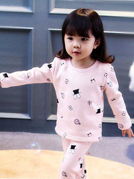 宝酷一族童装品牌2019春夏女童家居服两件套