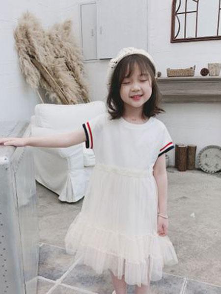沃腾童装品牌2019春季韩版时尚中大童纯棉公主裙