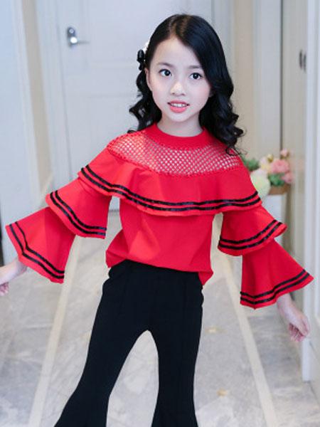 萌顺童装品牌2019春夏韩版童装儿童宽松裤子