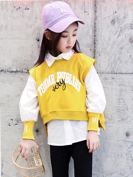 萌顺童装品牌2019春夏韩版时尚套装儿童时髦洋气