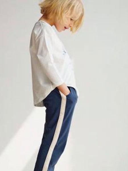 NATUNAKIDS纳桔童装品牌2019春夏童时尚休闲圆领卫衣两件套