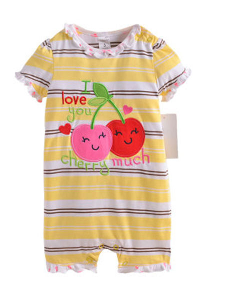 因吉迪斯童装品牌2019春夏婴儿短袖连体衣