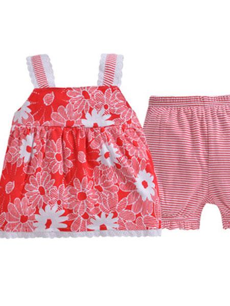 因吉迪斯童装品牌2019春夏婴童家居服宝宝纯棉外出服