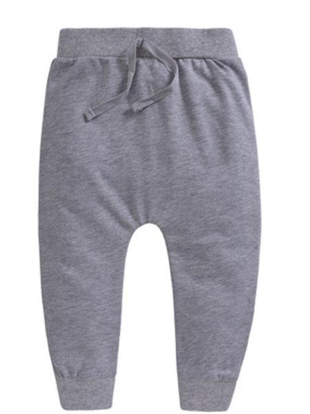 因吉迪斯童装品牌2019春夏纯棉哈伦裤高腰裤婴儿裤子宝宝单层卫裤