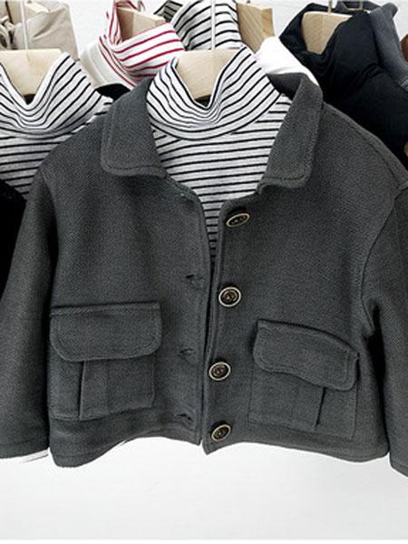 SMBY童装品牌2019春夏韩版儿童呢外套