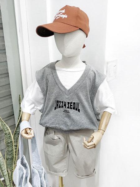 SMBY童装品牌2019春夏帅气儿童套装短袖两件套