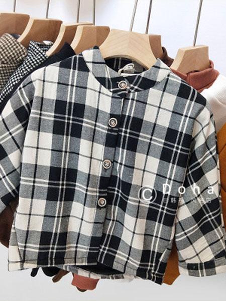 SMBY童装品牌2019春夏立领格子衬衫