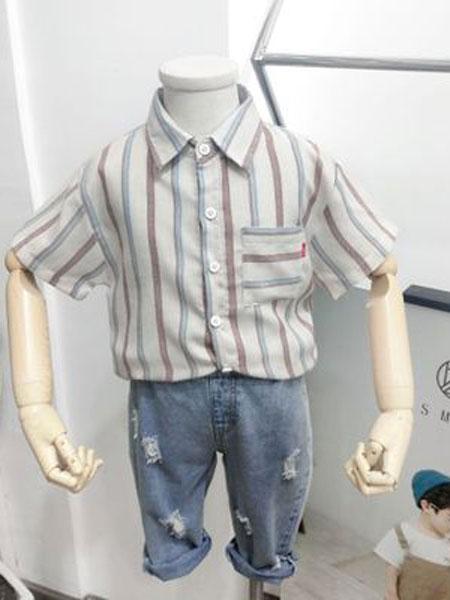 SMBY童装品牌2019春夏韩版儿童纯棉POLO衫短袖t恤