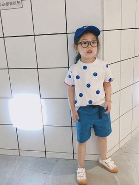 凡娟童装品牌2019春夏冰瓷棉儿童短袖T恤