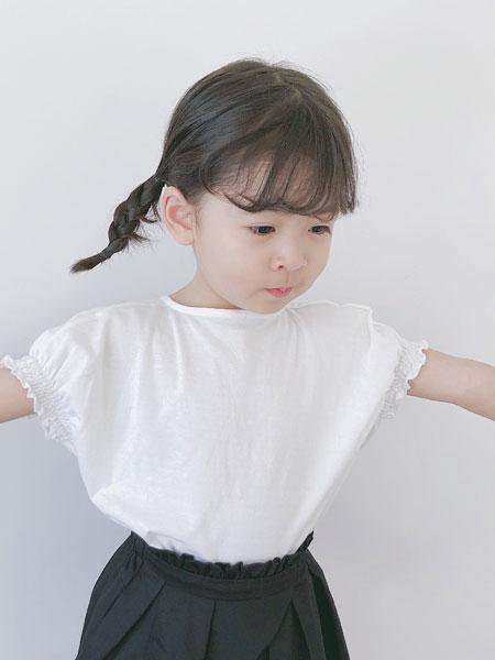 凡娟童装品牌2019春夏柔软宽松儿童T恤