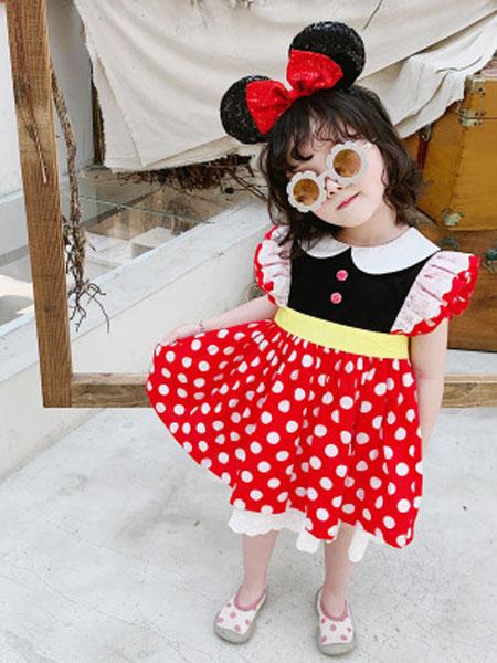 卡兰特童装品牌2019春夏蕾丝花边公主裙子女童礼服