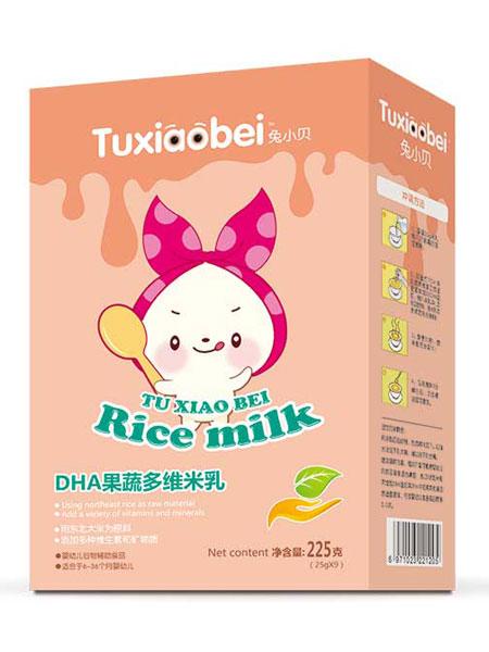兔小贝婴儿食品DHA果蔬多维米乳