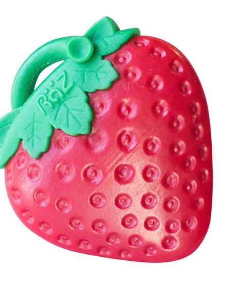瑞宝多婴童用品草莓安抚奶嘴牙胶