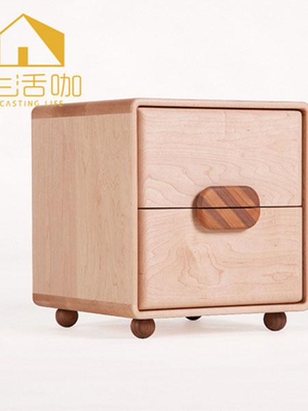 生活咖、鲁奇MLO青少年儿童家具 儿童全实木床边抽屉储物柜